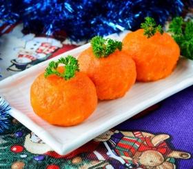 Новогодняя закуска «мандаринка»
